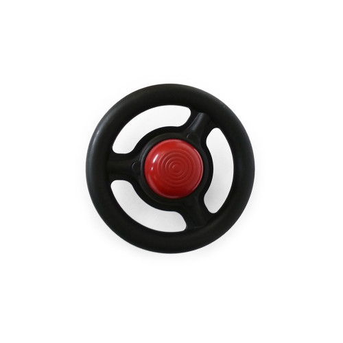 Steering wheel with red horn