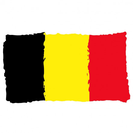 Belgium flag sticker